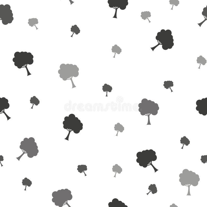 Árvore de vidoeiro Teste padrão sem emenda Vetor elemento para papéis de parede, fundo do fabricDesign do site, convite da festa  ilustração stock
