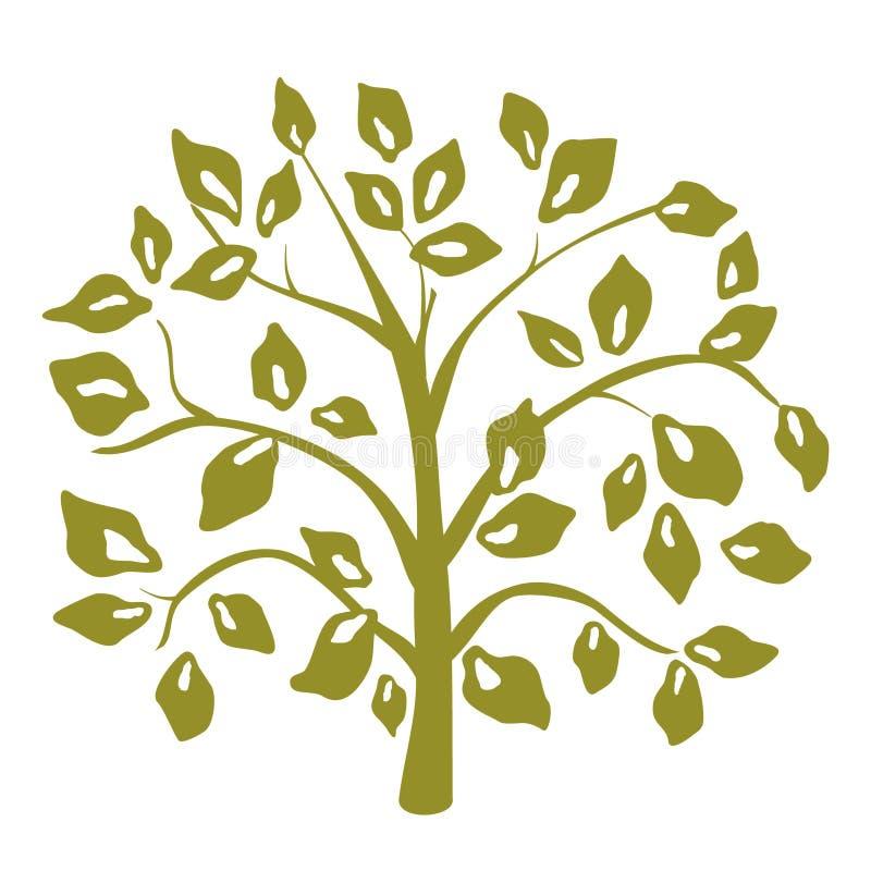 Árvore decorativa ilustração stock