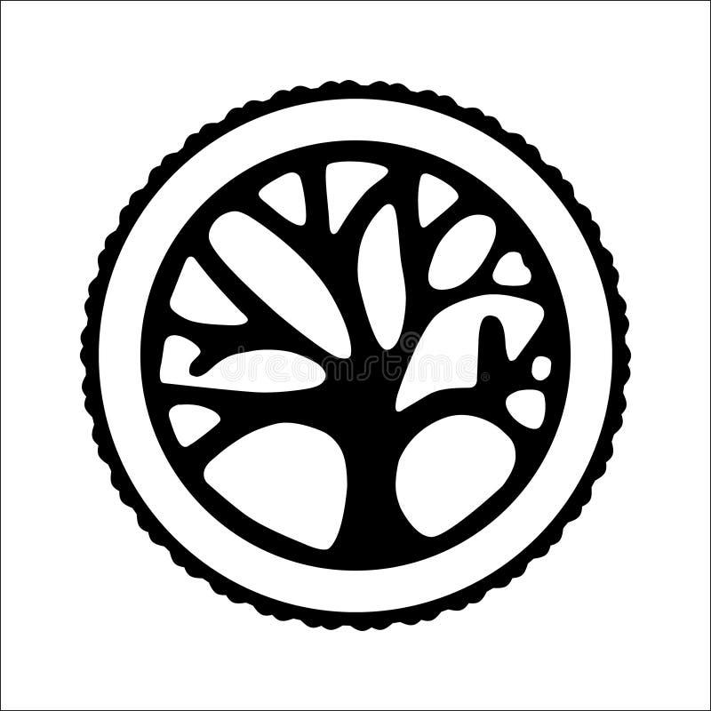 Árvore decorativa do ornamento do desenho criativo do vetor fotografia de stock