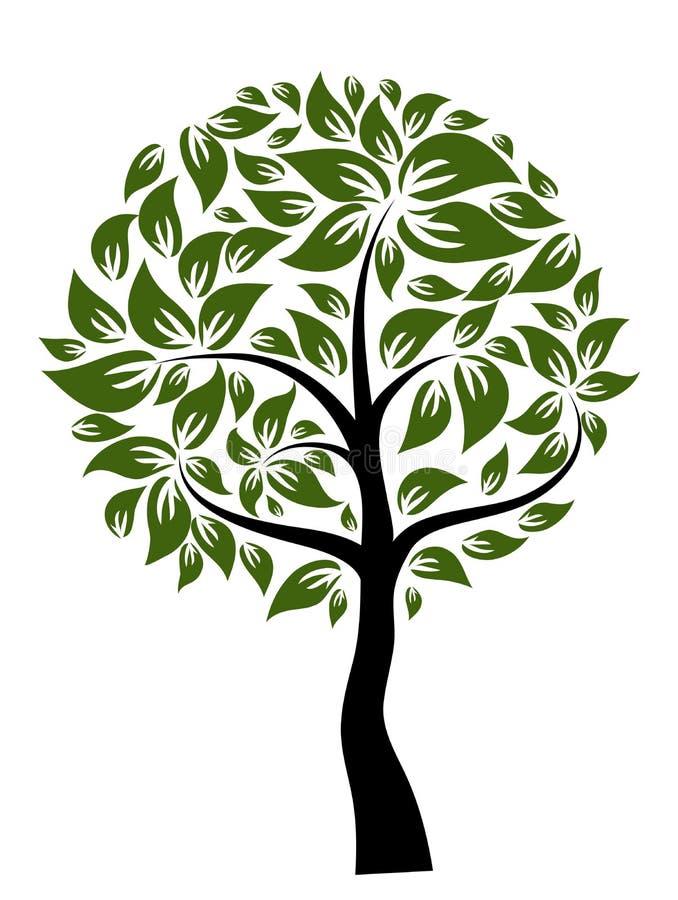 Árvore decorativa, vetor ilustração royalty free