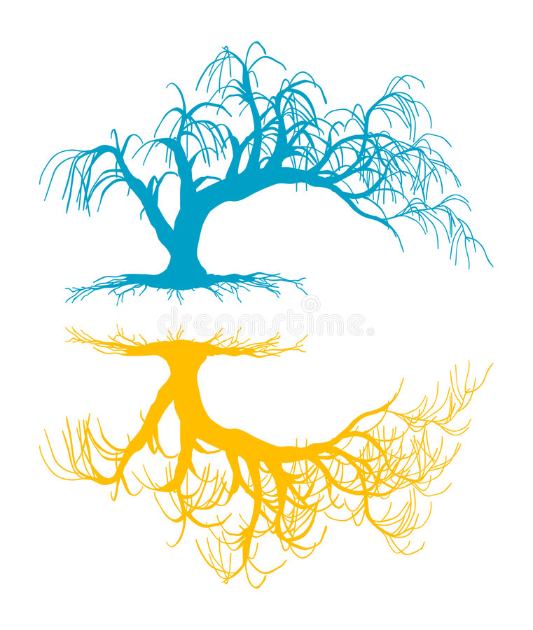 Árvore desencapada ilustração royalty free