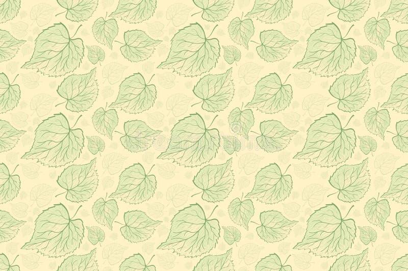 Árvore diferente da samambaia sem emenda do teste padrão, ramos naturais da folha, folhas verdes, beleza fresca tirada mão do vet ilustração do vetor