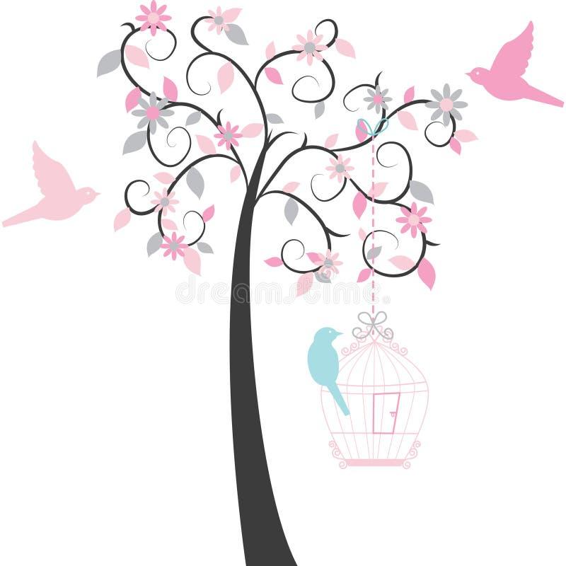 Árvore do Birdcage ilustração stock