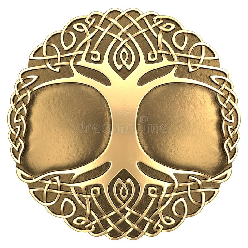 Árvore do céltico do ouro fotos de stock royalty free