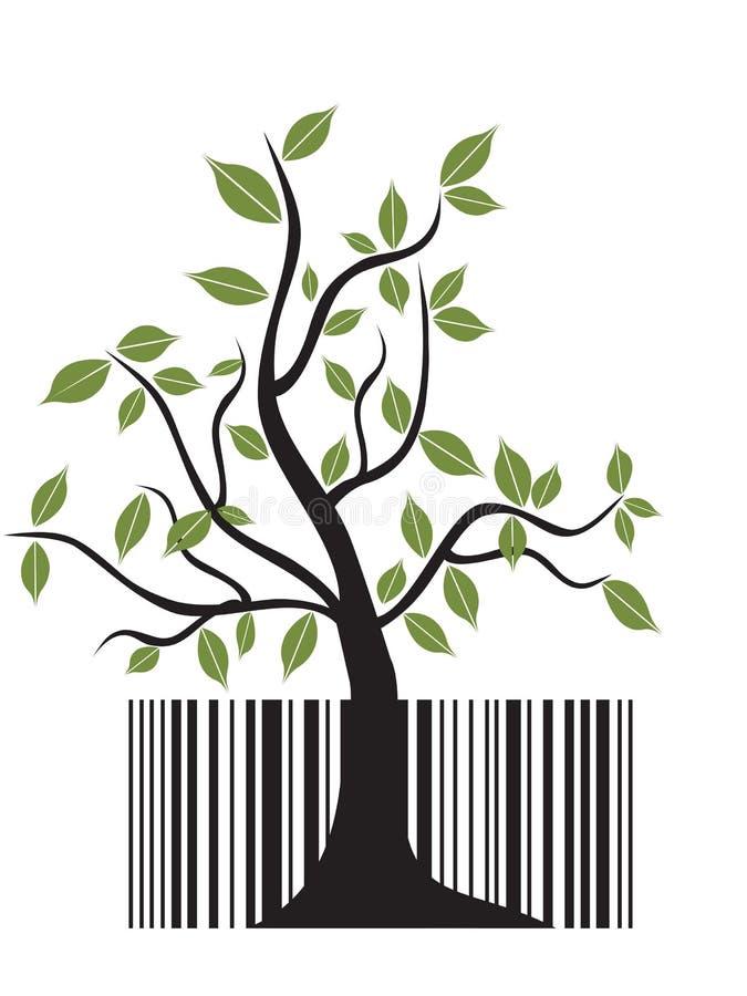 Árvore do código de barras ilustração royalty free