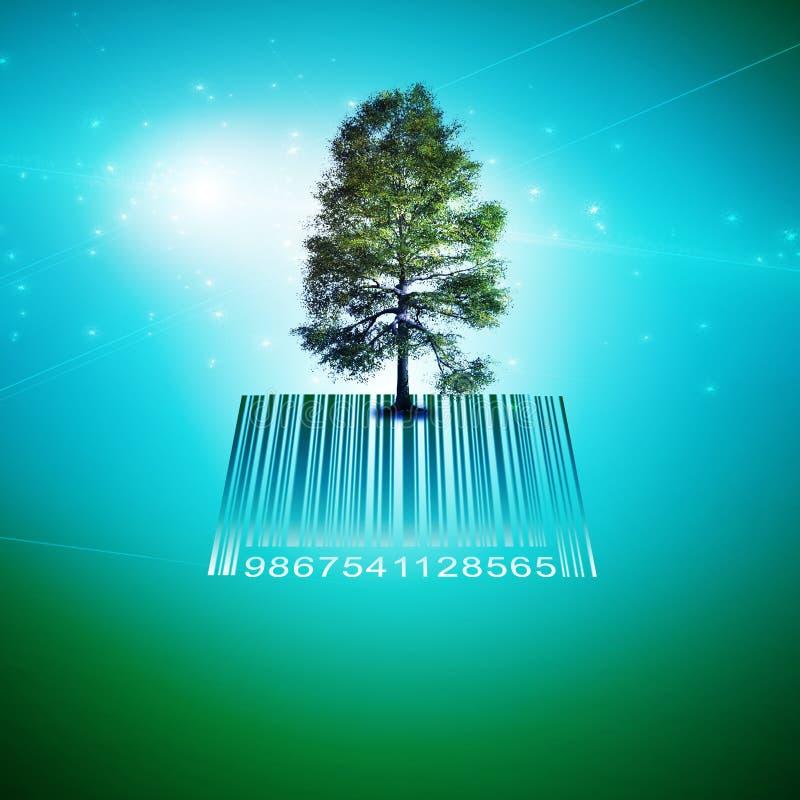 Árvore do código de barras ilustração do vetor