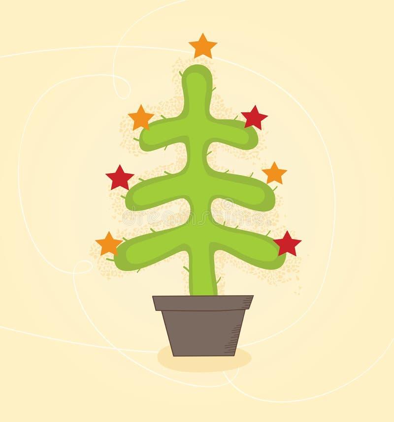 Árvore do cacto de Natal ilustração do vetor