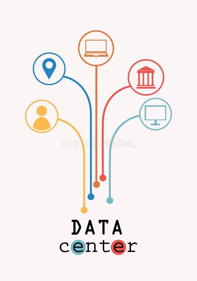 Árvore do centro de dados ilustração do vetor