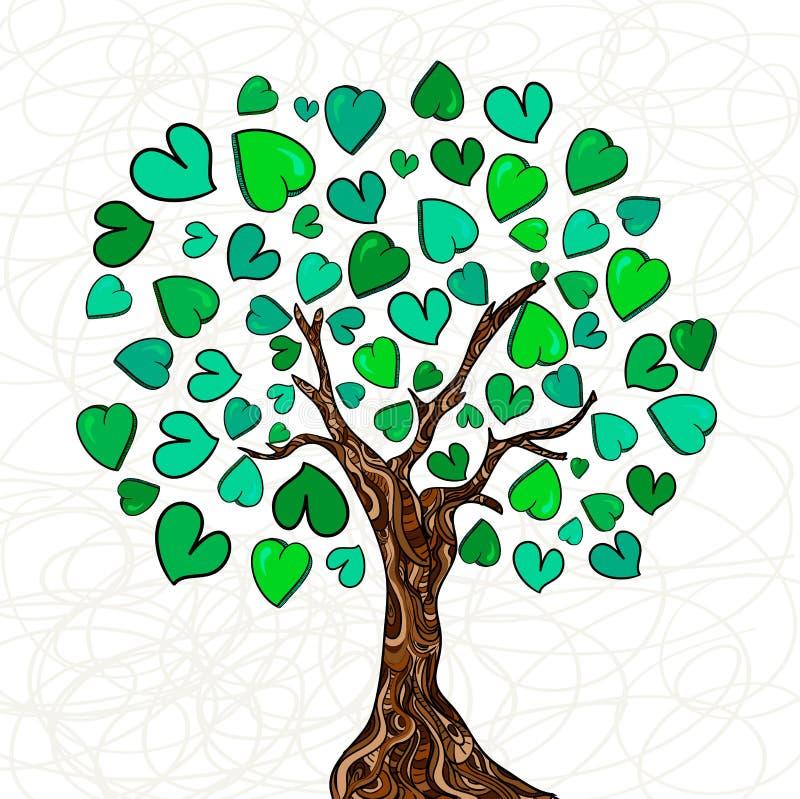 Árvore do conceito do amor ilustração do vetor