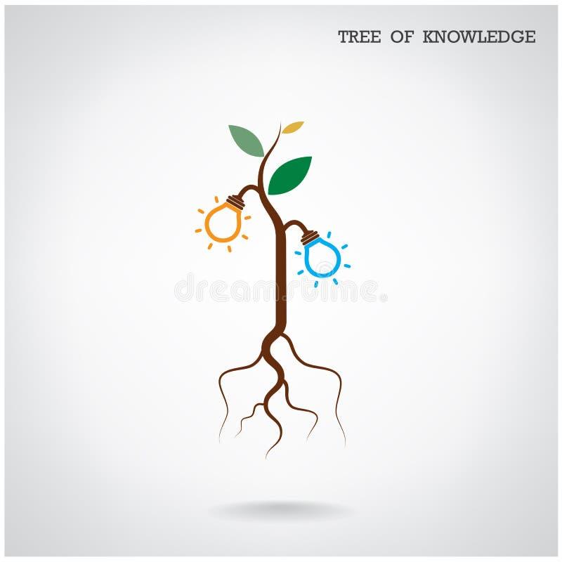 Árvore do conceito do conhecimento Sinal da educação e do negócio ilustração royalty free