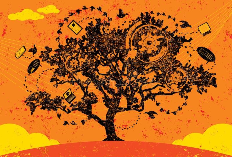 Árvore do conhecimento ilustração do vetor