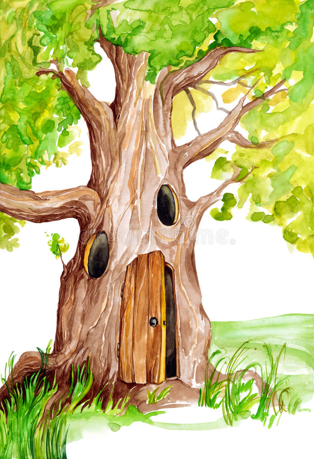Árvore do conto de fadas ilustração do vetor
