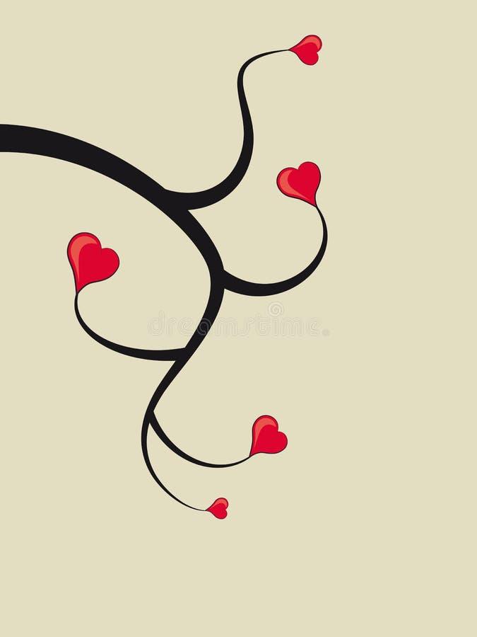 Árvore do coração ilustração do vetor