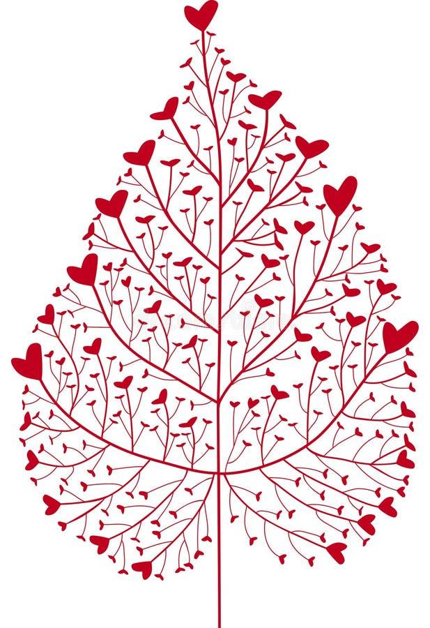 Árvore do coração ilustração royalty free