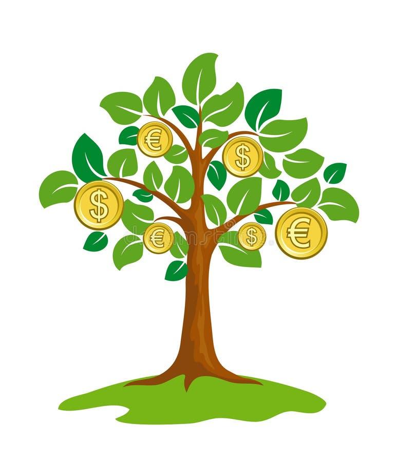 Árvore do dinheiro. ilustração do vetor