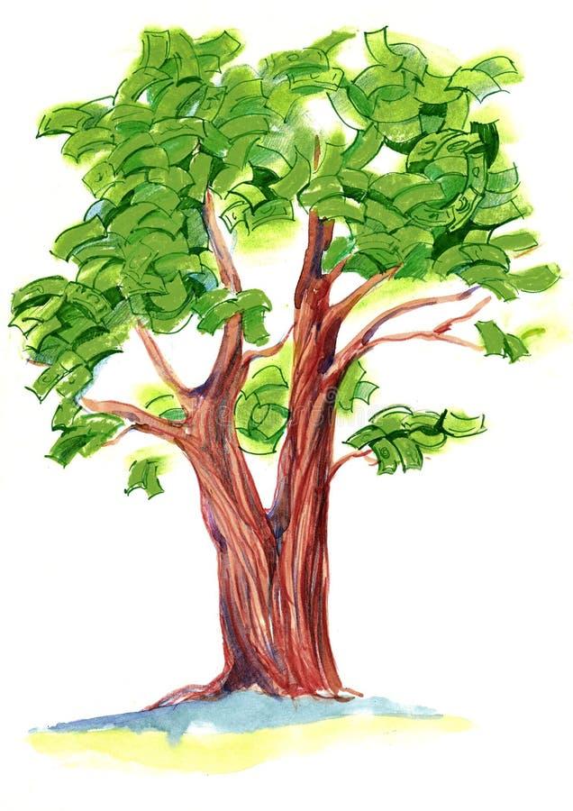 Árvore do dinheiro ilustração stock