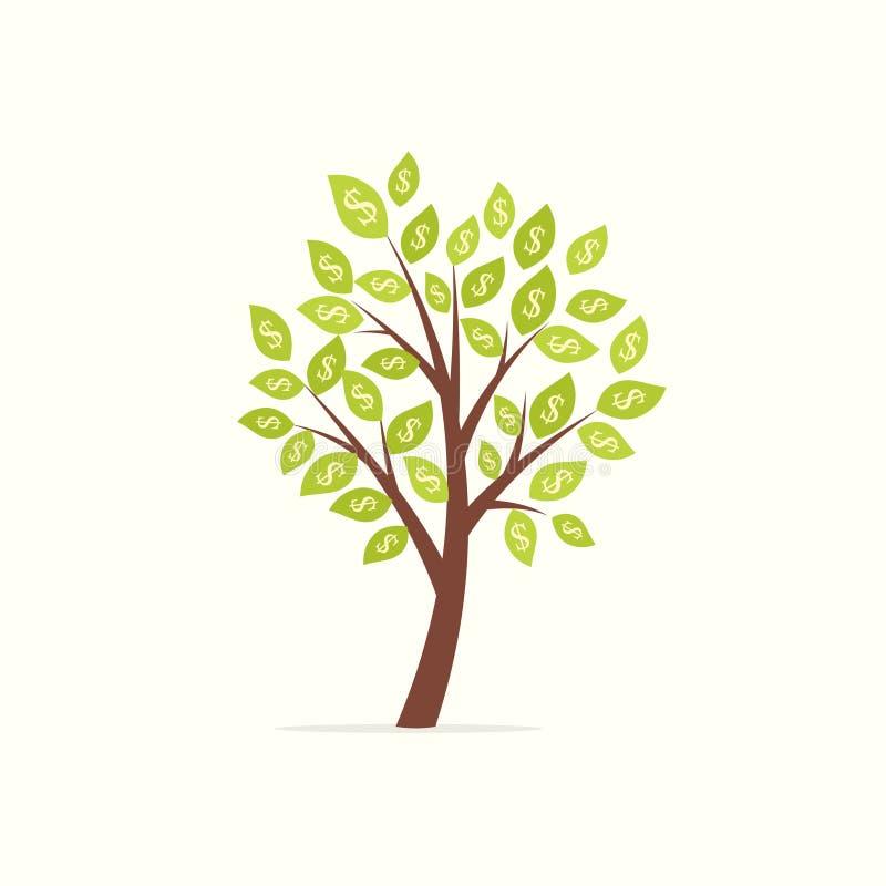 Árvore do dinheiro com dólares ilustração royalty free
