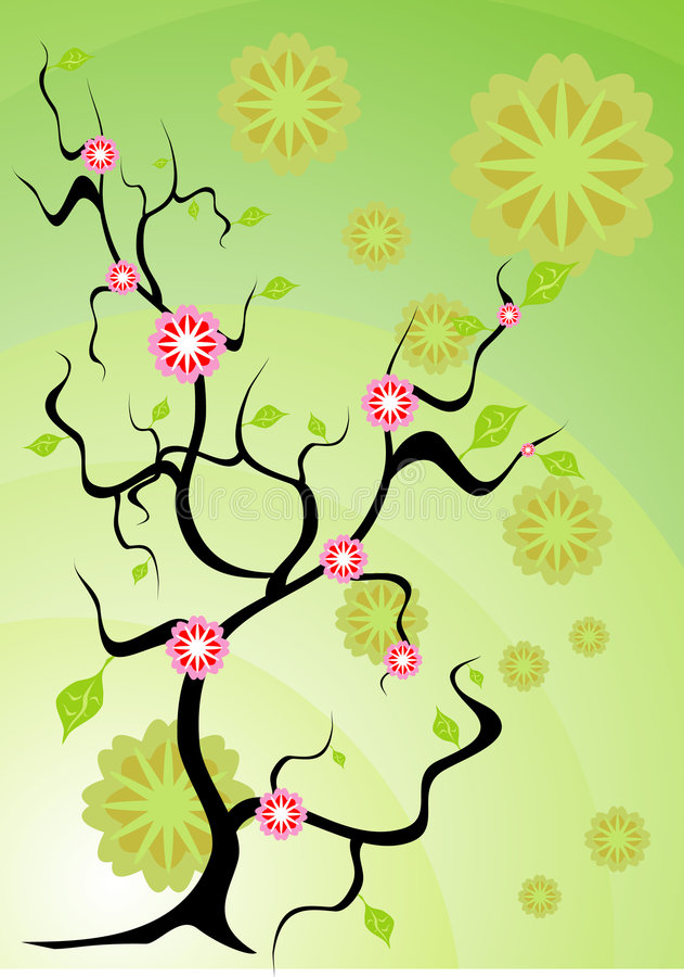 Árvore do espírito ilustração stock
