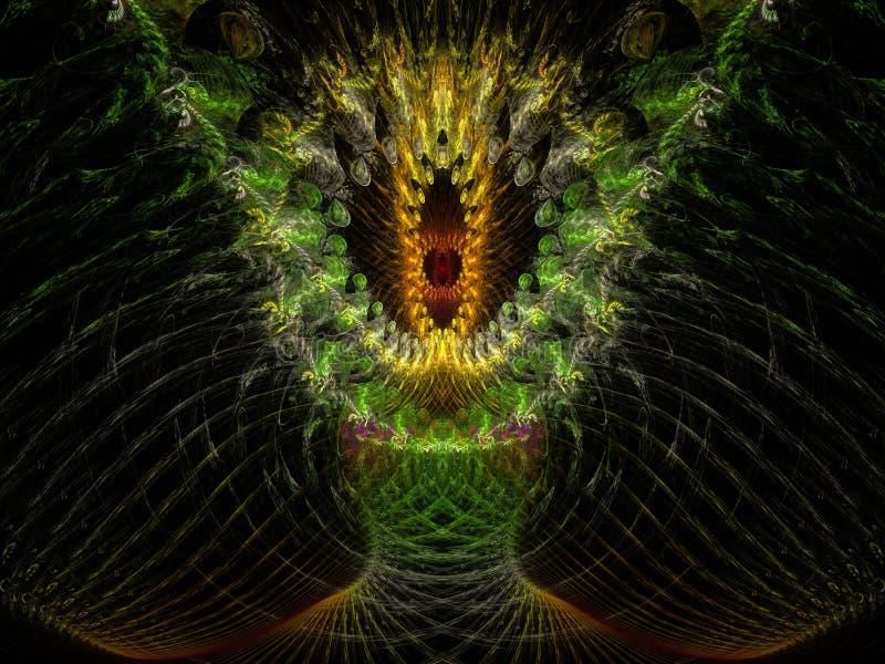 A árvore do Fractal da chama da vida ilustração royalty free