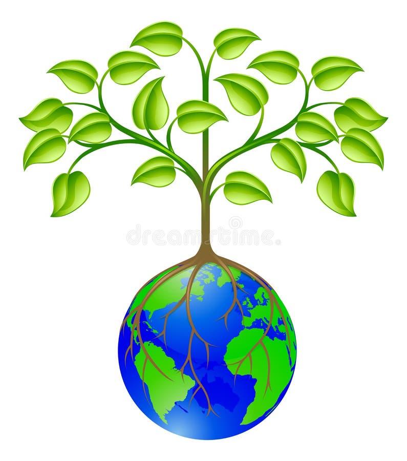 Árvore do globo do mundo ilustração royalty free