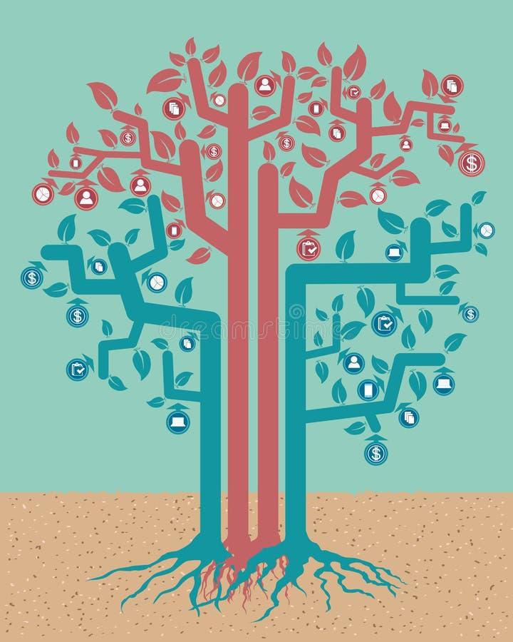 Árvore do gráfico da informação ilustração royalty free