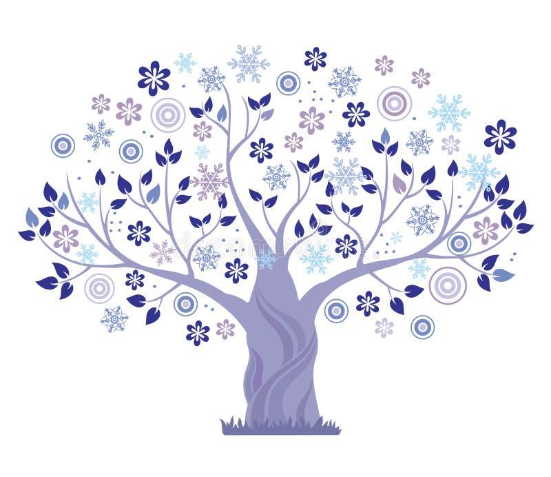 Árvore do inverno. ilustração royalty free