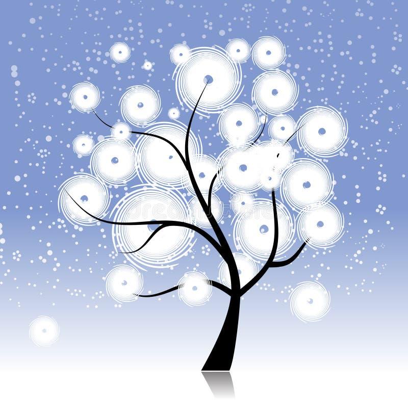 Árvore do inverno bonita ilustração stock