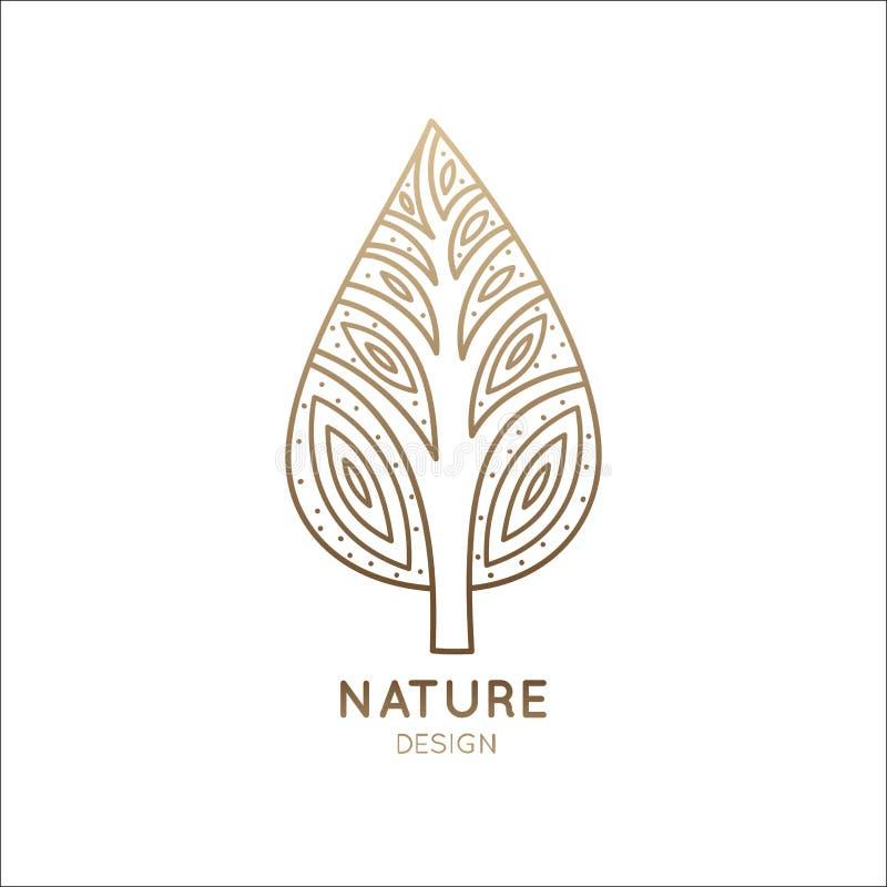 Árvore do logotipo ilustração royalty free