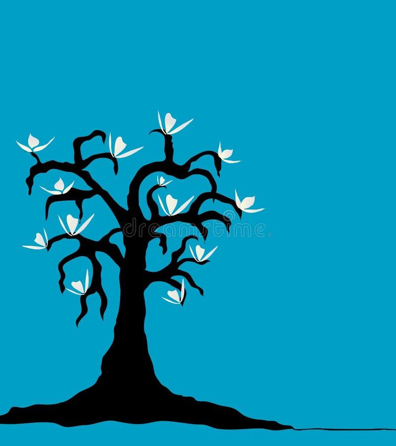 Árvore do Magnolia ilustração royalty free