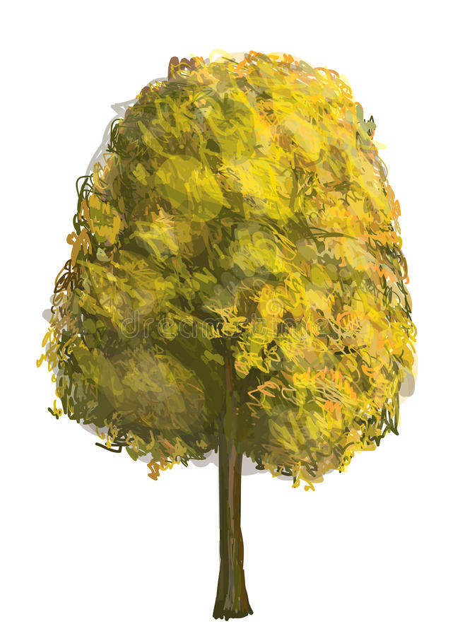 Árvore do outono ilustração do vetor