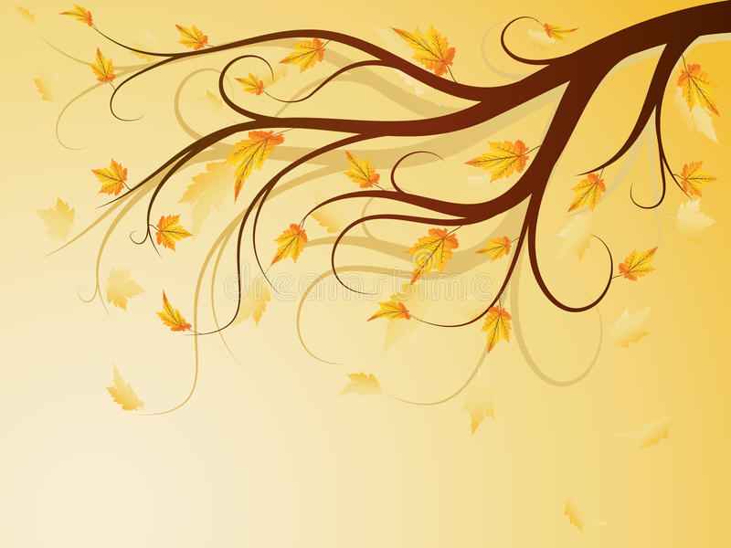Árvore do outono ilustração royalty free