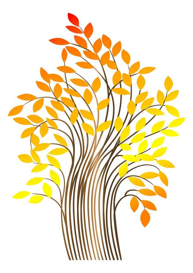 Árvore do outono. vetor ilustração stock