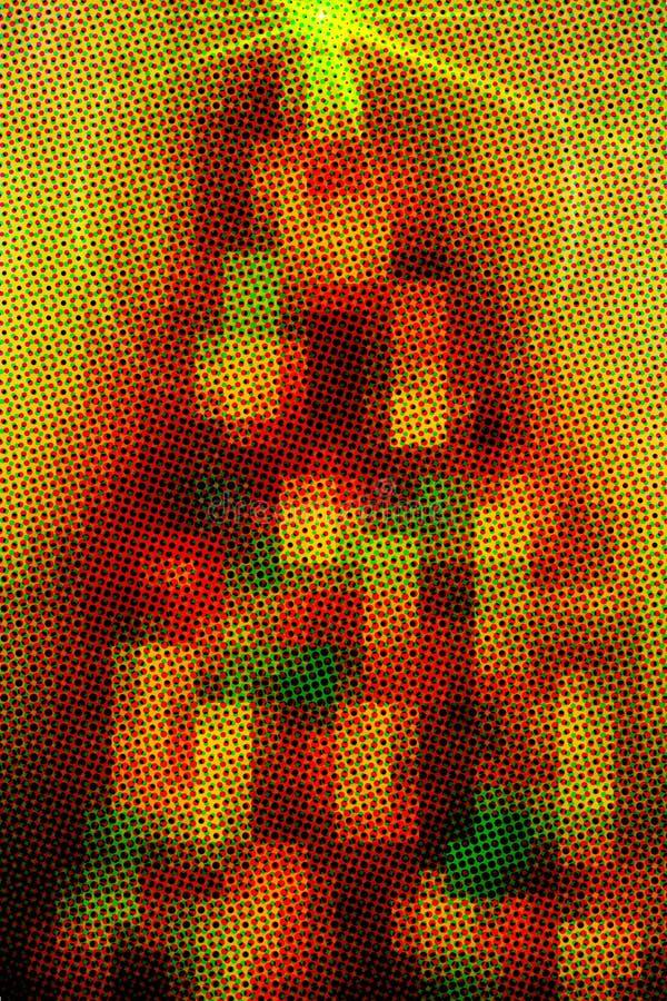 Árvore do pixel do feriado fotos de stock