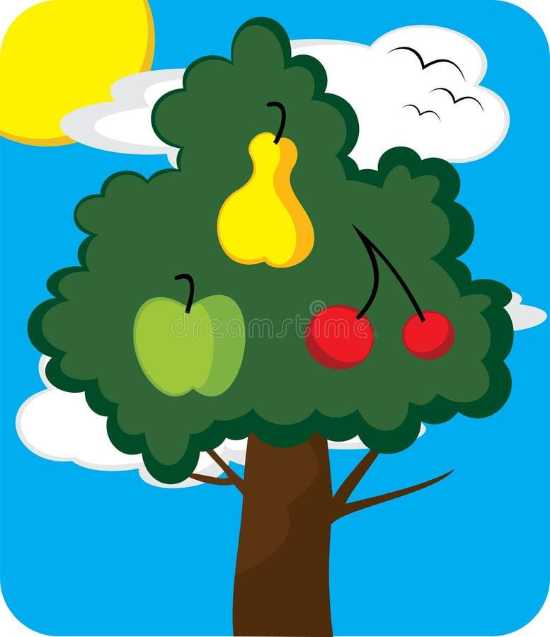 Árvore do pomar ilustração royalty free