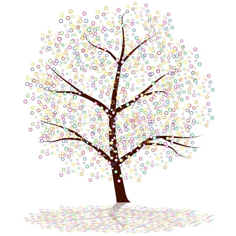 Árvore do ponto ilustração do vetor