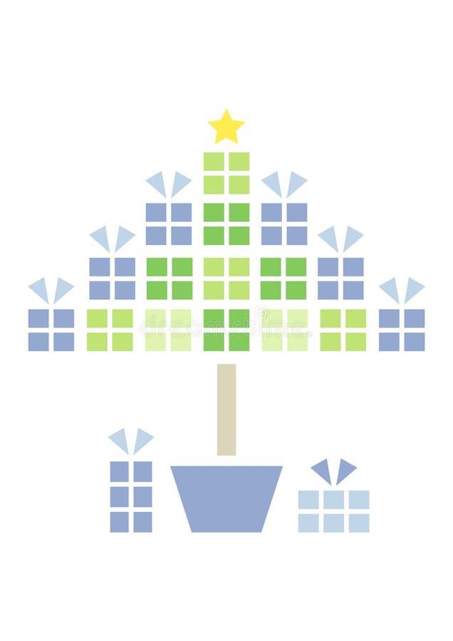 Árvore do presente do Natal ilustração stock