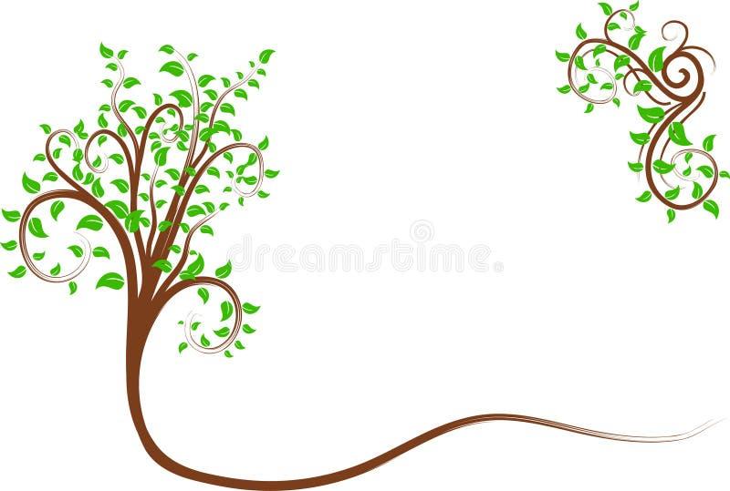 Árvore do redemoinho. ilustração do vetor