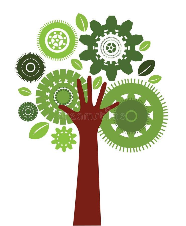 Árvore do ser humano da tecnologia ilustração do vetor