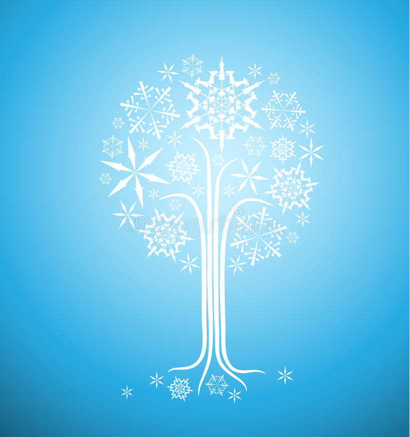 Árvore Do Sumário Do Inverno Do Natal Imagens de Stock Royalty Free