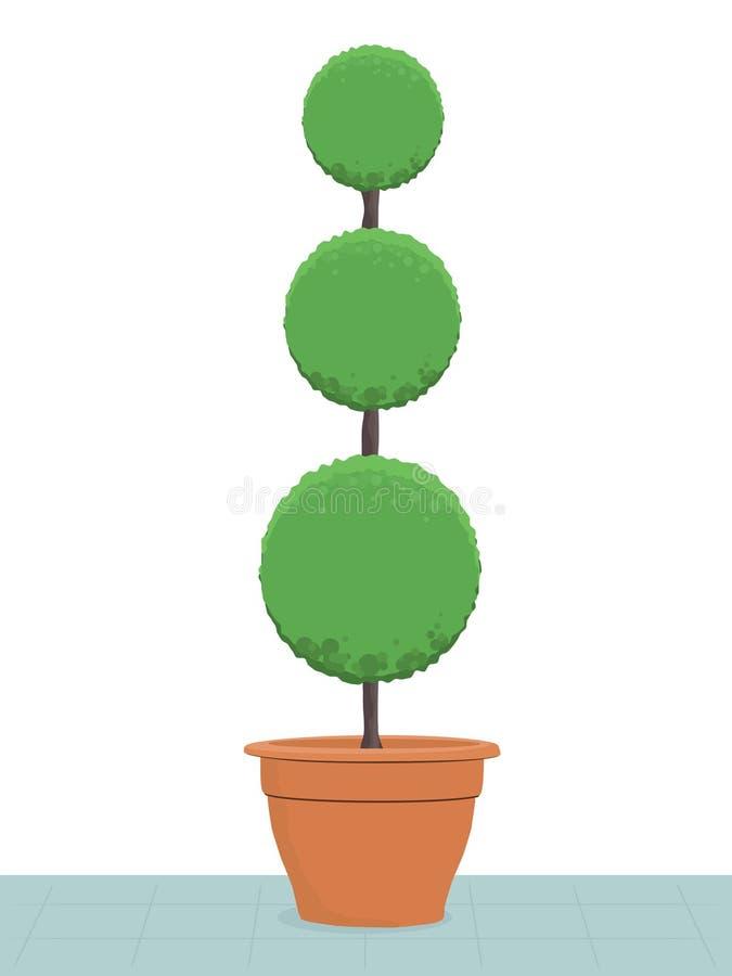 Árvore do Topiary ilustração stock