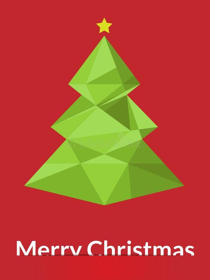 Árvore do triângulo do Feliz Natal ilustração royalty free