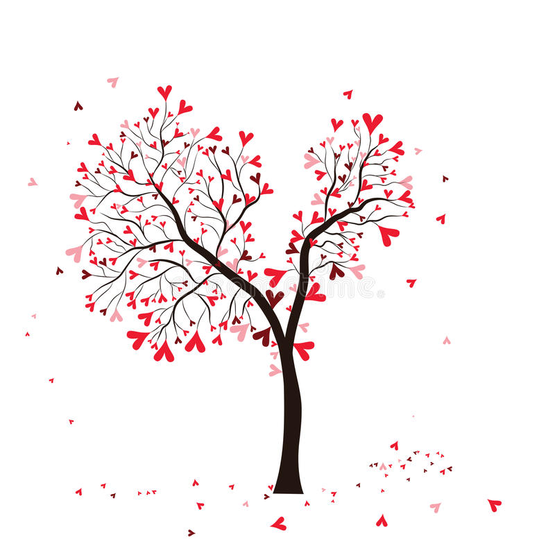 Árvore do Valentim ilustração royalty free