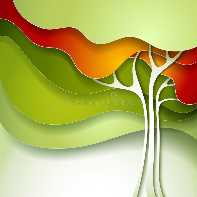 Árvore do verão ilustração royalty free