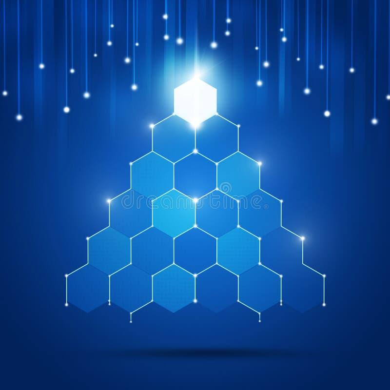 Árvore do Xmas da tecnologia ilustração stock