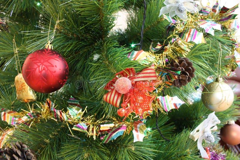Árvore do Xmas do ano novo fotos de stock royalty free