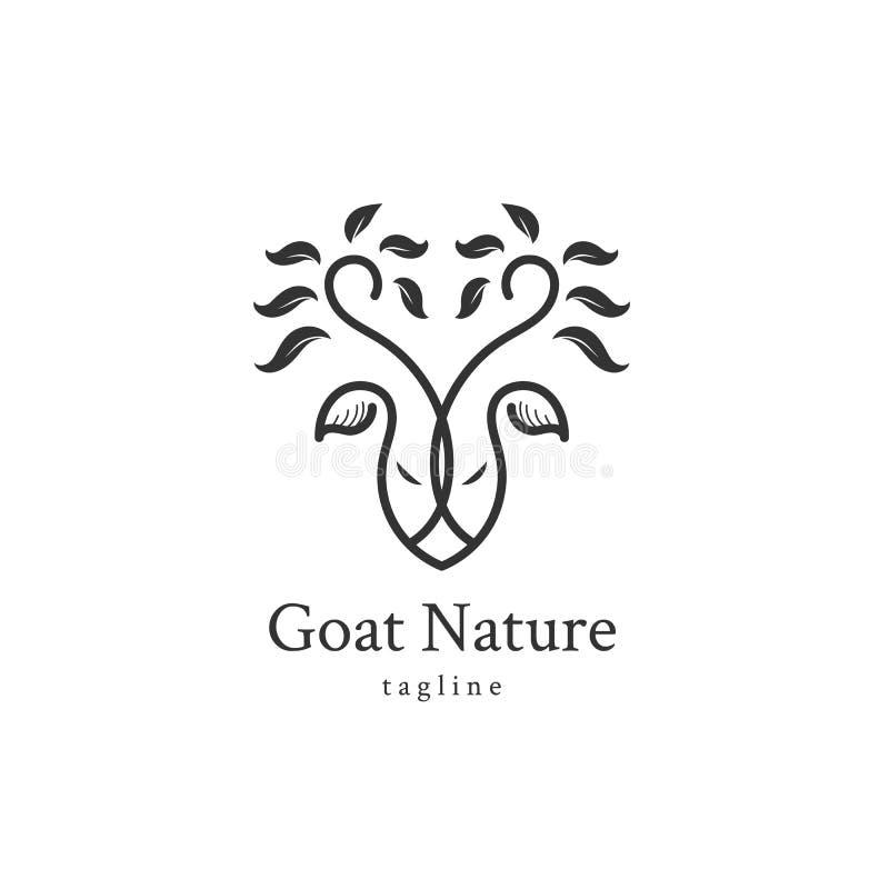 A árvore dos cervos sae do ícone de Forest Logo Vetora ilustração stock