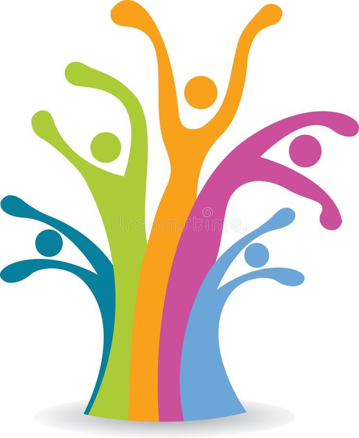 Árvore dos povos da família ilustração do vetor