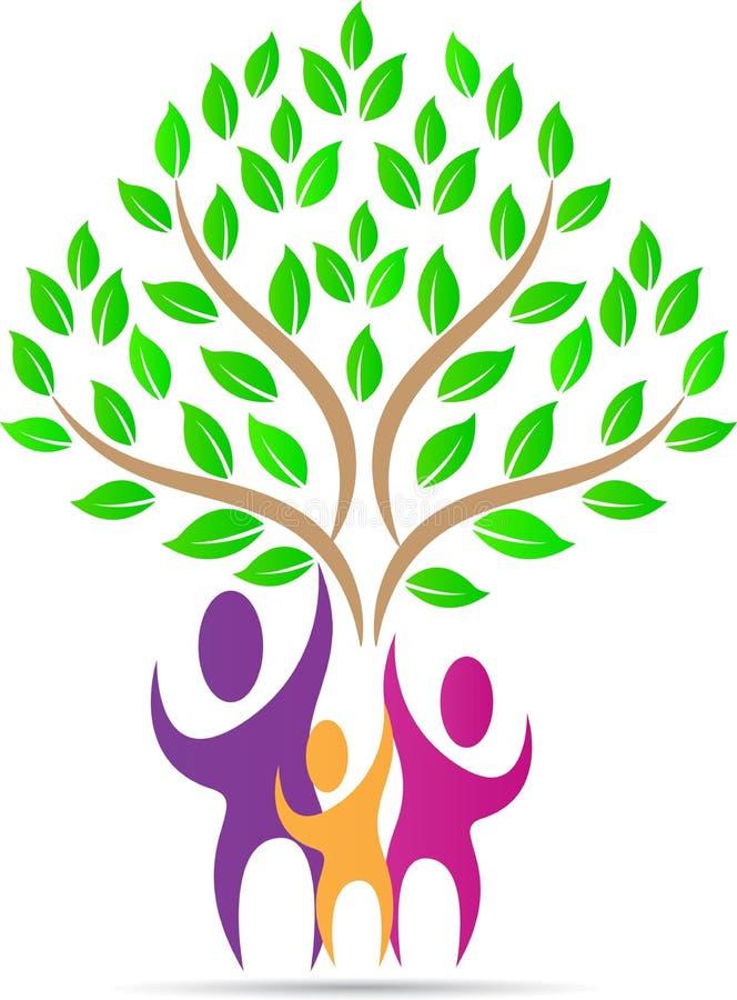 Árvore dos povos da família ilustração stock