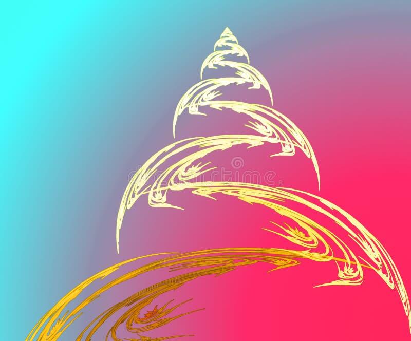 Árvore e bola de Natal do Fractal imagens de stock