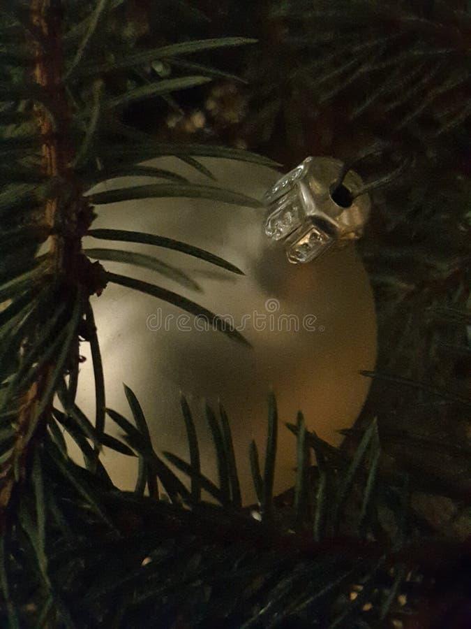 Árvore e decorações de Chrismas imagem de stock